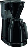 Melitta 1010-06 bk Easy Therm Kaffeefiltermaschine -Thermkanne -Tropfstopp -Schwenkfilter schwarz