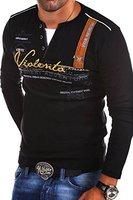 MT Styles 2in1 Longsleeve ADVENTURE T-Shirt R-0663 [Schwarz, XL]