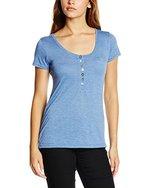 Sublevel Damen T-Shirt D1606Y00347C, Blau (Middle Blue 19300), 38 (Herstellergröße: M)