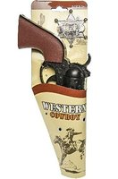 Karneval Pistole Westernpistole Kinderpistole + Sheriffstern Cowboy Pistole !