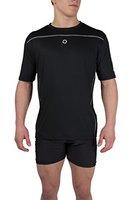 Gregster Herren T-shirt Sport Lauf und Funktionsshirt, Schwarz, XL, 11124-001-XL