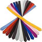 Slim Krawatte M´Karlo extra schmale Smoking Anzug Business Hochzeit Krawatte einfarbig in 30 Satin-Glanz Farben (Schwarz Glatt)
