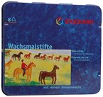 Stockmar 204884208 Wachsmalstifte (8 Stifte, wasserfest, papergewickelt, aus Bienenwachs, im Blechetui)