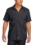 Dickies Herren Regular Fit Freizeit Hemd Shrt/S Work Shirt, Kurzarm, Schwarz (Black BK), Gr. XX-Large (Herstellergröße: XXL)