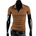 D9Q Mann Sommer beiläufige stilvolle Slim Fit Kurzarm Shirts Revers T-Shirt Tops