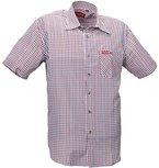 Funktions-Hemd Freizeit-Hemden Herren Kurzarm von Fifty Five - André red/blue check 2XL - Quick-Dry und UV-Schutz für Outdoor-Bekleidung