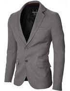 MODERNO - Slim Fit Business Herren Sakko Blazer (MOD14514B) Grau EU L