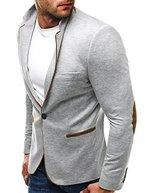 OZONEE Herren Sakko Business Anzug Kurzmantel Klassische Anzugjacke Jacket Blazer OZN 422 M GRAU