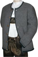 44-62 Trachtenjacke Strickweste Janker Strickjacke Strickjanker Wolle grau neu, Größe:54