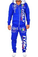 Herren Jogginganzug Bella Italia (L, Blau)