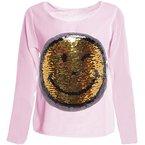 BEZLIT Mädchen Wende Pailletten Long Shirt Bluse Pullover Langarm Sweat Shirt 20994, Farbe:Rosa;Größe:116