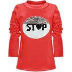 BEZLIT Mädchen Wende Pailletten Long Shirt Bluse Langarm Sweat Shirt 21008, Farbe:Rot;Größe:152