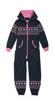 Onepiece Mädchen Bekleidungsset Jumpsuit Kids Folklore, Mehrfarbig (Midnight Blue/Pink) Gr. 8-9 Jahre