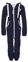 Hoppe Kinder Jumpsuit Overall Jogger Trainingsanzug Mädchen Anzug Jungen Onesie (11-12 Jahre/year, blau)