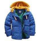 iPretty Winterjacke für Kinder Jungen Mädchen verdickte Daunenjacken Mantel Trenchcoat Outerwear mit Kapuzen-Blau-150