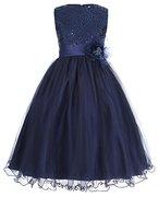 Fashion Paillette Abendkleid Partykleid Urlaub Kleid Sommerkleid 10-11 jahre