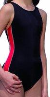 Fashy Mädchen Bademode Einteiler, schwarz-rot, 152, 25165