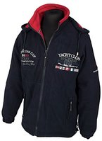Herren Yacht Club 3-Lagen Segeljacke Outdoor & Freizeit Fleecejacke Navy Blue, XL