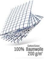 WoldoClean Geschirrtücher 100% Baumwolle 50x 70 blau / 8er Set ca. 200g/qm
