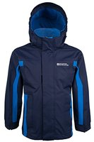 Mountain Warehouse Kinder Samson Kapuze Wasserdichte Nähte Jacke Regen Mantel Marineblau 140
