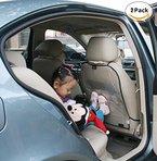Autositz Rückenschutz Schutz Autositz Rückenlehne Kinder Anti-schmutzig Auto Träger A set of 2 Auto-Sitz Rückseiten-Schutz-Abdeckung Transparent Abnehmbare Hängen Auflage Car Seat Cover Kick Matte für Kids Babys Dogs (1 Paar)