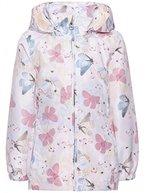 name it Mini Mädchen Übergangsjacke, Regenjacke, Jacke MELLO Butterfly in rose tan, Größe:110