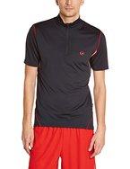 Ultrasport Herren Laufshirt, Kurze Ärmel, black red, XL, 10251