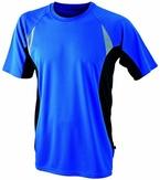 James & Nicholson Herren Langarmshirt T-Shirt Running T blau (royal/black) X-Large