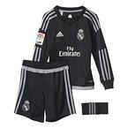 adidas Jungen Bekleidungsset Real Madrid Mini-Heimausrüstung Torwart, Schwarz/Grey, 152, S12651