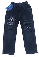 Bequeme Jungen Jeans mit rundum Gummizug in Blau, Gr. 128/134, J140.10e