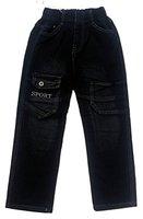 Bequeme Jungen Jeans, in Schwarz, Gr. 122, J22.8eh