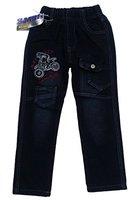 Bequeme Jungen Jeans mit rundum Gummizug, in Schwarz, Gr. 92/98, J26.2e