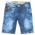 Jungen Bermuda Jeans Hose dünne Sommerhose in Blau, Gr. 128/134, J47.10e