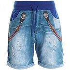 Jungen Kinder Cargo Kurze Hose Bermuda Shorts Capri Vintage Sport Strech 20412, Farbe:Blau;Größe:152