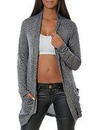 Damen Cardigan Strickjacke Pullover (weitere Farben) 13367, Größe:One Size;Farbe:Schwarz