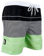 GUGGEN MOUNTAIN Herren Badeshorts Beachshorts Boardshorts Badehose gestreift *High Quality Print* Farbe gestreift S
