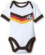 "Twins Unisex Baby - Kurzarm-Body ""Fußball-Trikot"", Gr. 92, Weiß (Weiss 11-0601)"