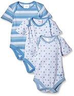 Twins Baby - Jungen Kurzarm-Body im 3er Pack, Gr. 74, Blau (baby blue 123000)