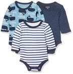 Care Baby-Jungen Body Balder, 3er Pack, Mehrfarbig (Deep Skye Blue 720), 92