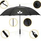 GolfUp Fiberglas Regenschirm - 130 cm groß XXL - sturmsicher dank Windventil mit 2 Jahren Garantie
