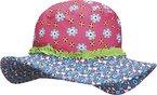 Playshoes Mädchen Mütze Sonnenhut, Bademütze Blumen, UV-Schutz nach Standard 801 und Oeko-Tex Standard 100, Gr. Medium (Herstellergröße: 53cm), Mehrfarbig (original 900)