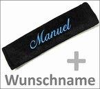 Gurtpolster Gurtschoner mit Name bestickt Stickerei Velour Klettverschluss Wunschtext (1)