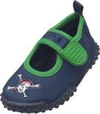 Playshoes Aquaschuhe, Badeschuhe Pirat mit höchstem UV-Schutz nach Standard 801 174785, Jungen Aqua Schuhe, Blau (original 900), EU 24/25