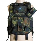 Paintball Weste pt-field flecktarn unisize