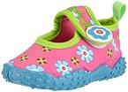 Playshoes Badeschuhe Blumen mit höchstem UV-Schutz nach Standard 801 174759, Mädchen Aqua Schuhe, Pink (original 900), 24/25 EU