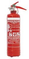 1kg ABC Pulver Auto Feuerlöscher, EN3, inkl. Andris® Prüfnachweis mit Jahresmarke, KFZ-Halter + ISO-Symbolschild