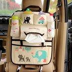 Vine Auto Utensilientasche Multi-Tasche Autorücksitzorganizer mit Tissue, Getränke, Essen Halter