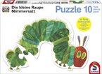 Schmidt Spiele 55503 - Die kleine Raupe Nimmersattt, Konturenpuzzle, Raupe, 10 Teile