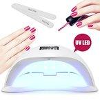 36W UV LED Nagellampe Maniküre/Pediküre Nageltrockner mit 4 Zeiteinstellungen- Perfekt für Nagelstudios zum Trocknen oder Polieren von Nägeln und Gel- Trocknet Fingernägel und Zehnägel samt 2 KOSTENLOSEN Nagelfeilen