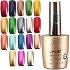 18 Farbe UV Gel Metallic Lack Farbgel lackfarbe Nagellack Polish 15ml DancingNail 26